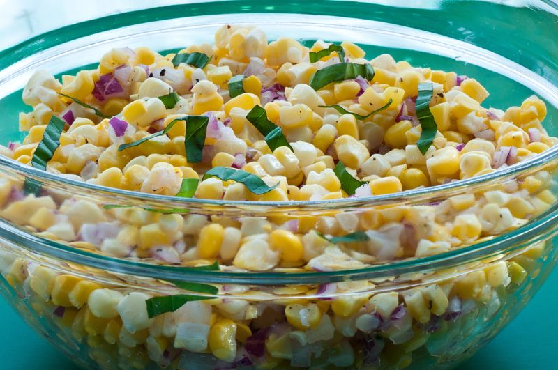 Salad corn recipe