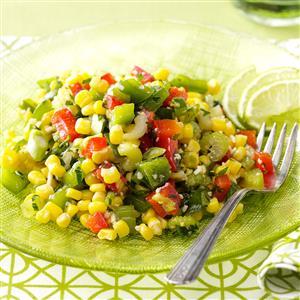 Corn recipe salad colorful