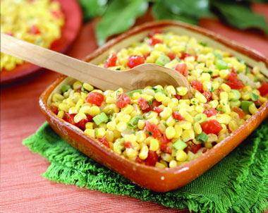 Organic harvest corn salad