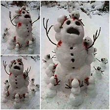 Zombie snowmen!