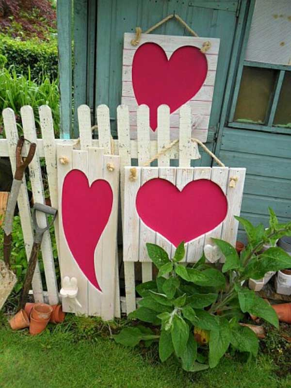 Heart Wall Hangings for outdoors