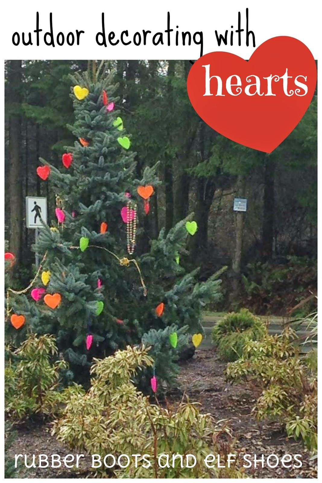 decorating outdoors with Hearts