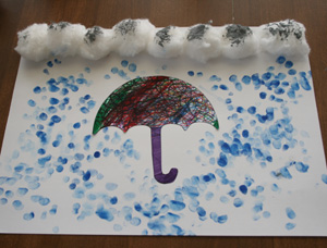 Fingerprint rainy day craft