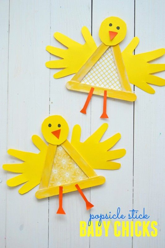 Popsicle stick baby chick cover