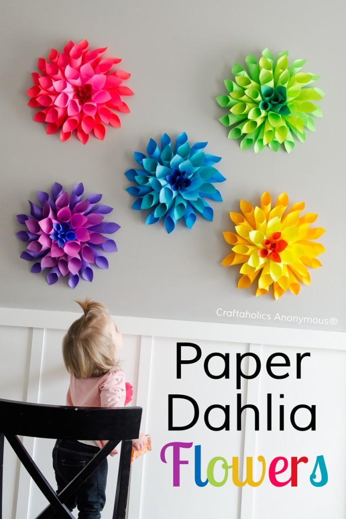 Paper spring! dahlia craft