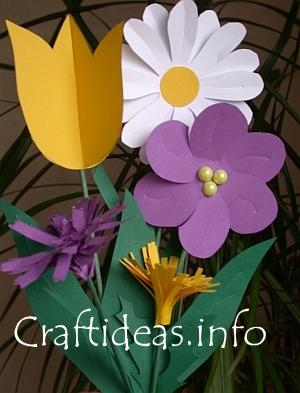 Flower paper spring