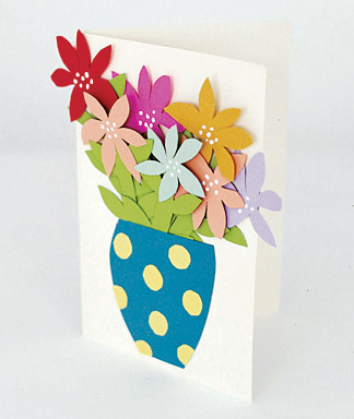Paper flower vase crafts