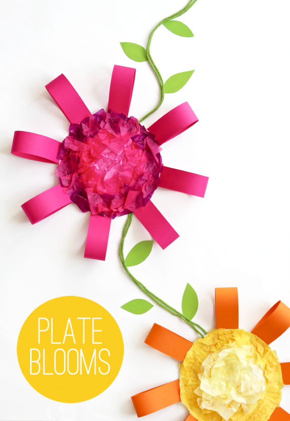 Plate bblooms spring crafts