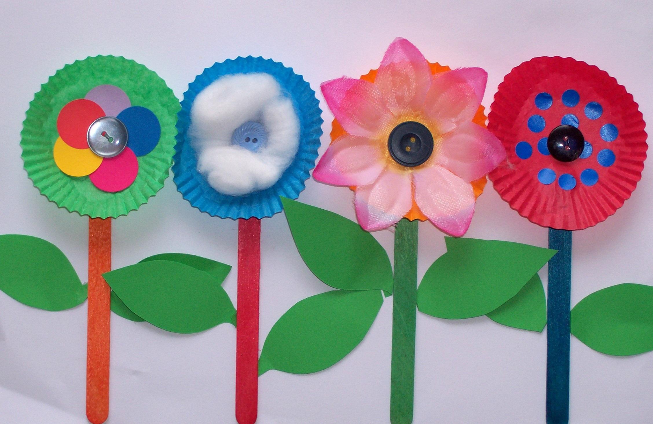 Spring ideas craft flower for kids