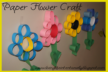 Paper flower crafts for kids
