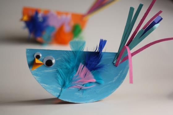 Plate paper birds cardboard