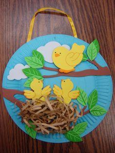 Paper bird plate nest