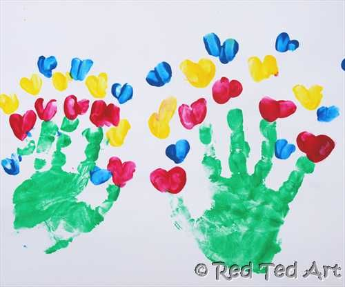 Hand print craft for kids
