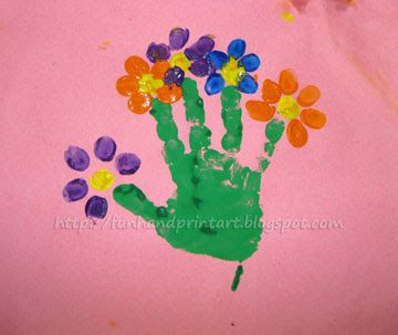 Finger print paint art tree