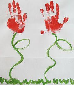 Flowers handprint