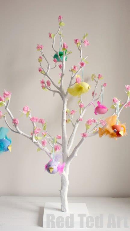 Tree spring vibrant crafts