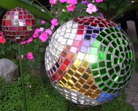 Art garden mosaic ball bowling