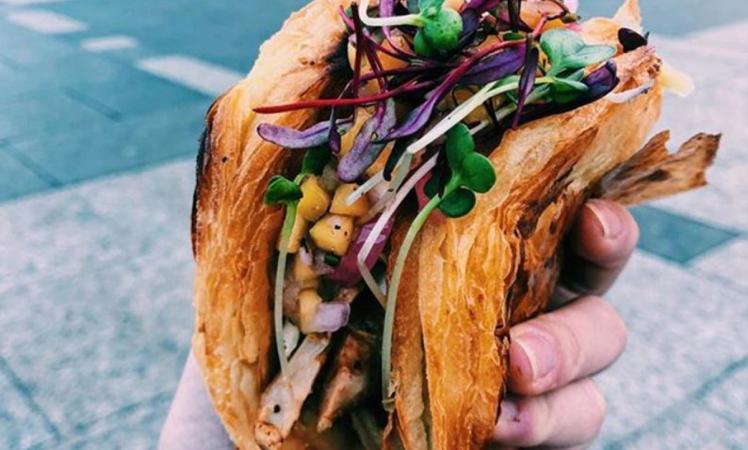 The Tacro, a croissant taco mashup.